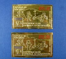 Spaziale Space 1972 Equatorial Guinea Apollo 15 GOLD 26 + a26 PERF + Imperf/697
