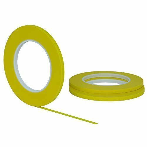 "3 pack 1//4/"" .25 inch x 60yd Thin STIKK Yellow Painters Masking Tape 6mm x 55m"