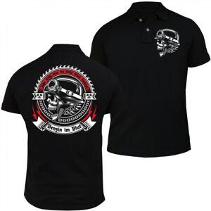 Manner Polo Shirt Polohemd Benzin Im Blut Motorrad Bikes Rocker