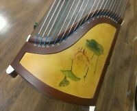 53 Travel 21-string Rosewood Guzheng, Chinese Zither Harp With Stands