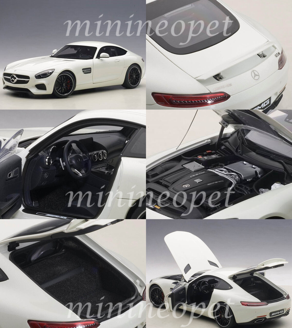 autoart 76311 mercedes mercedes mercedes amg gt s 1  18, modello di auto designo diamante bianco cc4422