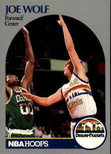 1990-91 Hoops Denver Nuggets Basketball Card #412 Joe Wolf U