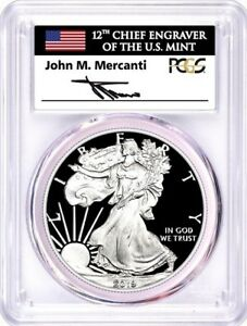 2019-W-1-Proof-Silver-Eagle-PCGS-PR70-DCAM-First-Day-of-Issue-Mercanti