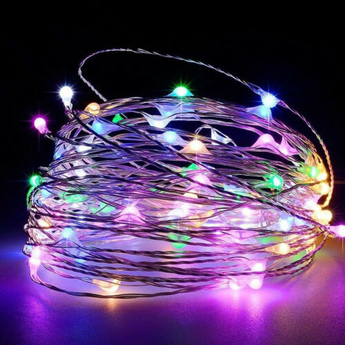 20//50//100 LED Battery Micro Rice Wire Copper Fairy String Lights Party white//rgb