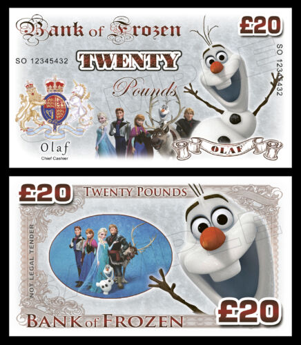 Party Bag Fillers Olaf Frozen Novelty Banknotes