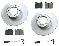 Mercedes W123 300d 79-85 Front Disc Brake Rotors+pads Kit Best Value W/ Sensors