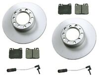Mercedes W123 300d 79-85 Front Disc Brake Rotors+pads Kit Best Value W/ Sensors on sale