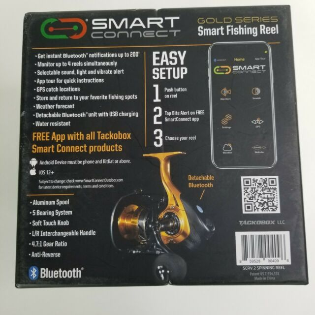 SMART CONNECT SCRV.2 GOLD SERIES SPINNING REEL WITH BLUETOOTH BRAND NEW