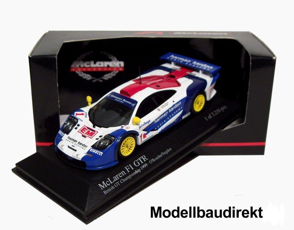 promociones emocionantes Mclaren f1 GTR British British British GT Championship 1999 1 43 Minichamps 530194301 nuevo & OVP  Seleccione de las marcas más nuevas como