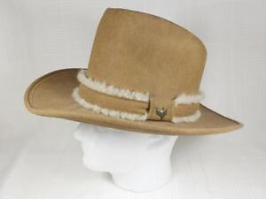 5e3cb0c15b6b4 Vintage ADAM Camel Tan Tall Crown Cowboy Western Style Hat 7 1 8 ...