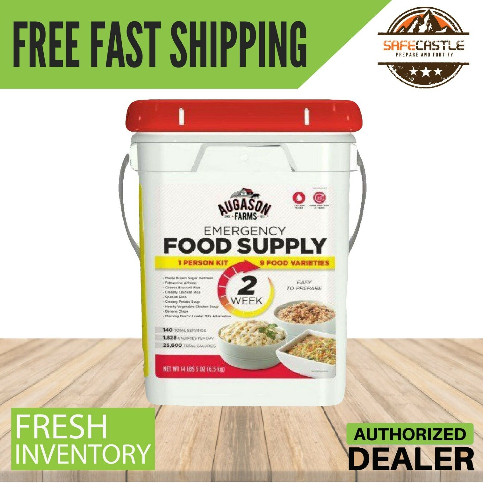 Augason Farms 2 Week 1-Person Emergency Survival Food Storage Supply Pail Kit