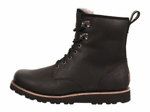 402a40c19c3 Details about UGG Men's Hannen TL Casual Leather Winter Boots Black 1008139  7 8 9 10 11 12 13