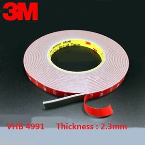 3M VHB 4991 Gray Double-sided Acrylic Foam Tape length 16.5 M * Thickness 2.3 mm | eBay