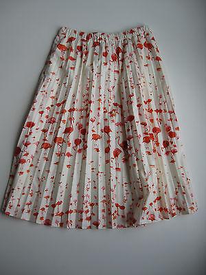 NWT J.Crew Women's Flamingo Pleated Midi Skirt In Flamingo Print~Size 10