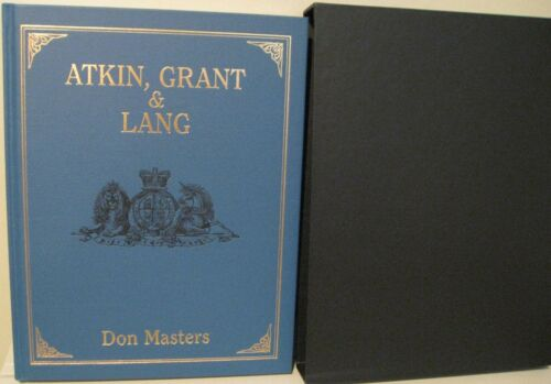 Atkin, Grant & Lang de Masters, Ltd.. Ed. 500 copies, signé, Slipcased, nouveau