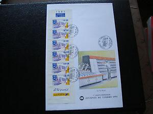 FRANCE-1-enveloppe-1er-jour-16-3-1991-journee-du-timbre-cy74-french