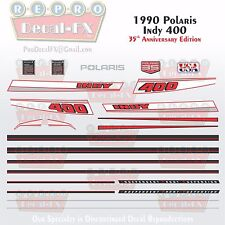 1990 Indy 400 Polaris Graphics Reproduction 23 Pc Decal Snowmobile Kit Vintage