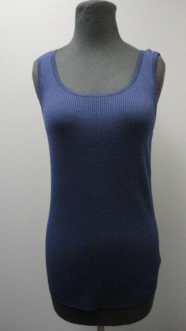 ST. JOHN Ink laine sans manches Encolure Dégagée solide Casual Débard Neuf avec étiquettes SZ M GG3703