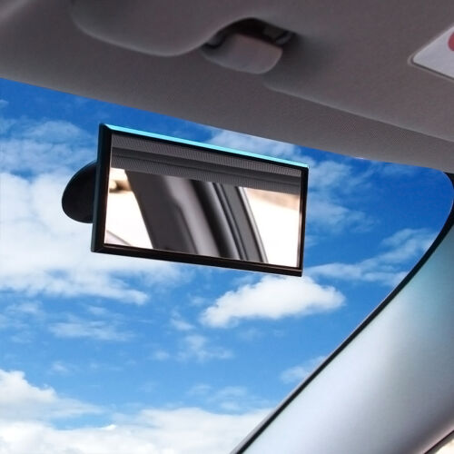 Wide Flat Universal Rear View Mirror Interior Car Adjustable  Suction NEW\