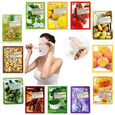 3PCS Collagen Essence Facial Mask Sheet 3D Moisture Face Mask Pack Skin Care