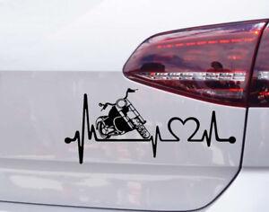 Motorrad-Chopper-Aufkleber-Herz-Schlag-Auto-Tuning-Harley-Davidson-Sticker-JDM