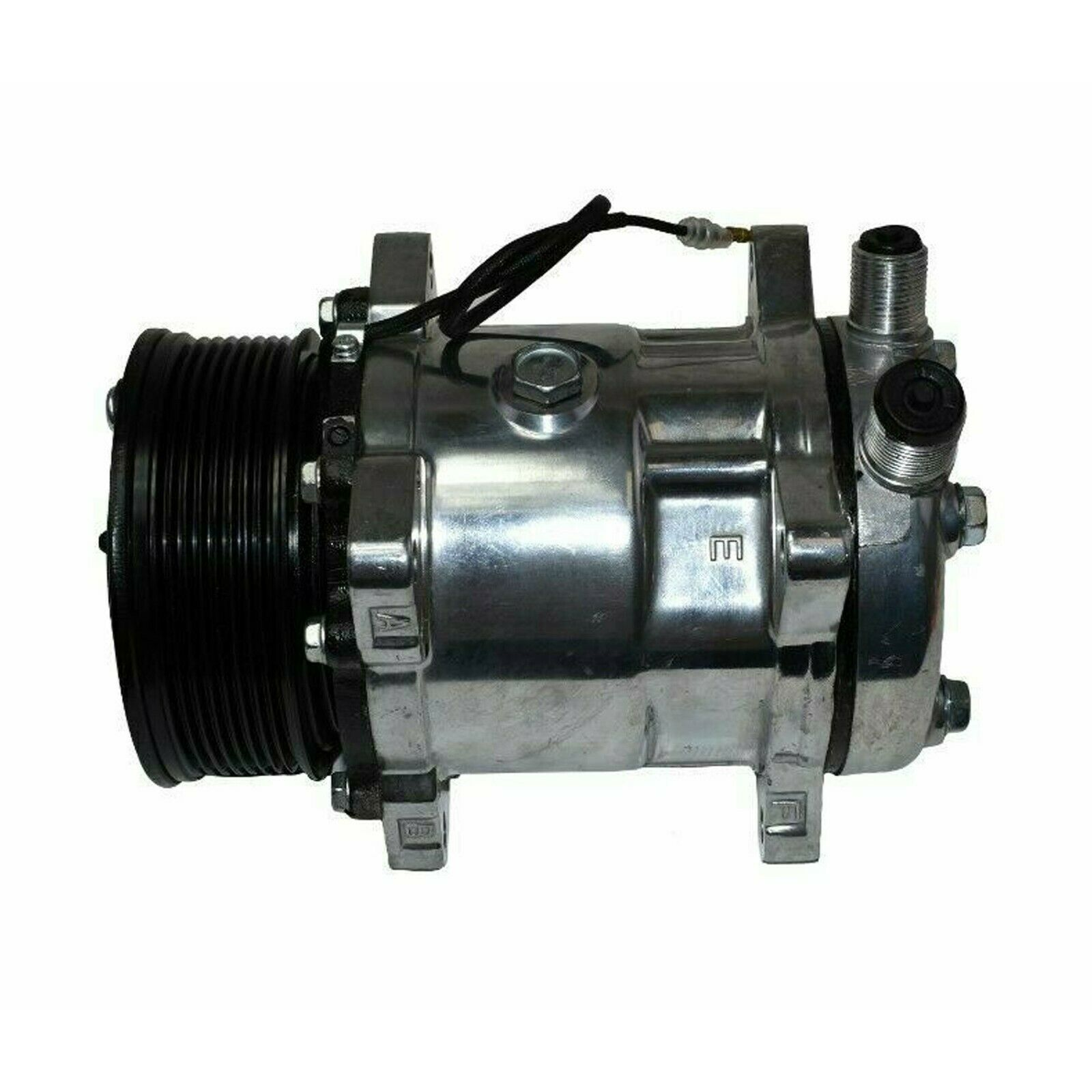 """New SD508 Sanden Style AC Compressor 7 Groove Serpentine 3//4/"""" 7//8/"""" A//C Ports"""