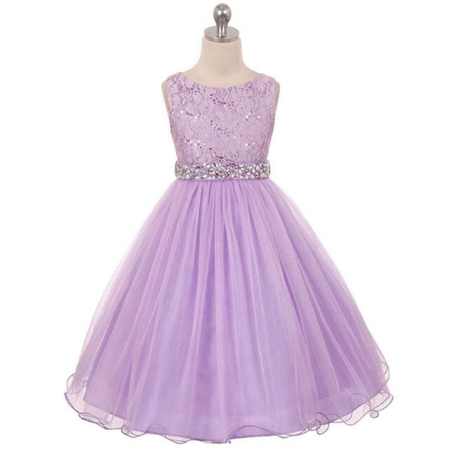 cd92d9a08a7 Mauve Flower Girl Dress Graduation Dance Bridesmaid Party Recital Birthday  Prom Lilac Size 6. About this product. TURQUOISE Flower Girl Dress ...