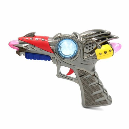 LIGHT Up effetto sonoro Ray PISTOLA GIOCATTOLO PISTOLA aliena Cosplay costume di scena