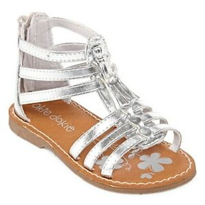 3d362b1841c Image is loading Okie-Dokie-Bluebell-Silver-Gladiator-Sandals-Shoes-Toddler-