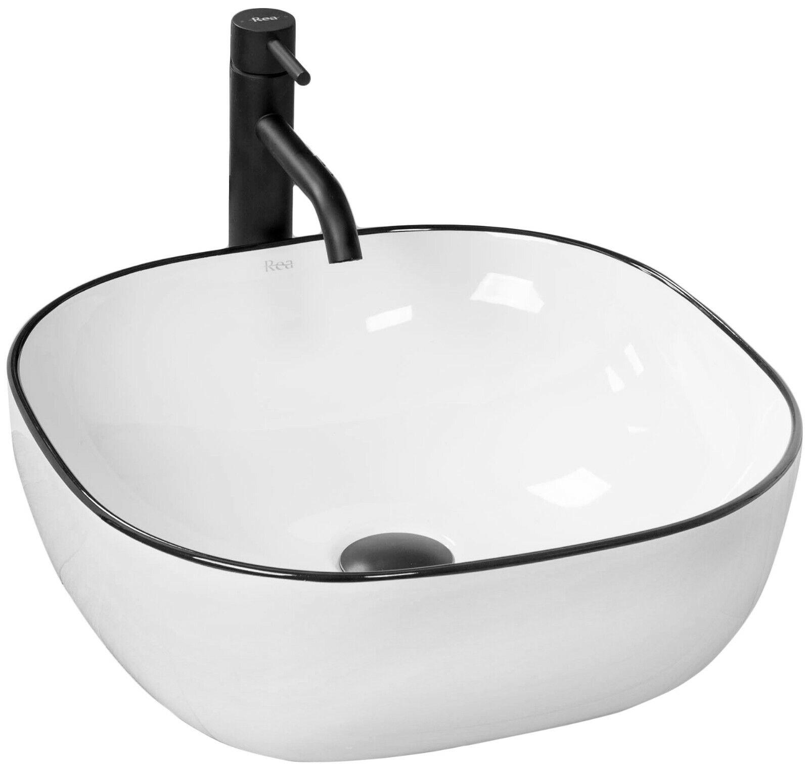 Lavabo REA In Ceramica - DORIS - Lavandino Da Appoggio Bianco