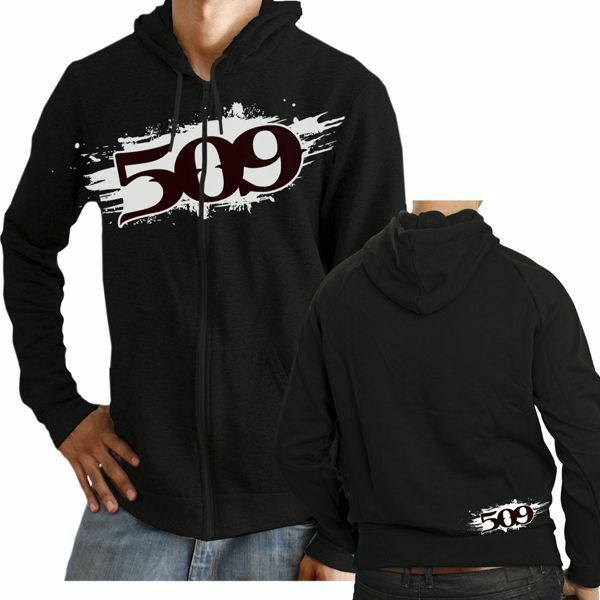 509  CLOTHING APPAREL -  509 PAINTED ZIP HOODY – 3XL  best offer