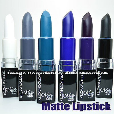 Kleancolor 6 Piece Madly Matte Lipstick Set ( White and Black ) Assorted Color !