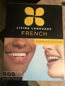 LIVING-LANGUAGE-FRENCH-COMPLETE-SET-Brand-New-Sealed