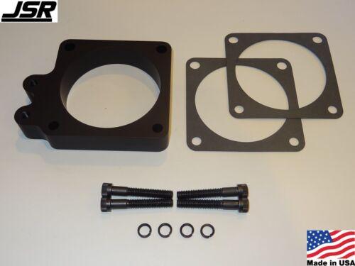 86-93 Mustang GT LX 5.0 Throttle Body EGR Spacer Delete Plate Kit 1in 90mm BLACK