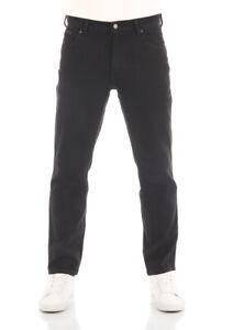 Wrangler Herren Jeans Texas Slim - Slim Fit - Schwarz - Black Glass