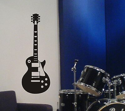 Guitar Wall Decal Les Paul inspired removable sticker music metal rock decor art