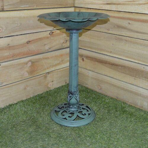 Baignoire oiseaux traditionnelle Socle extérieur jardin d/'ornement d/'eau résistant aux intempéries