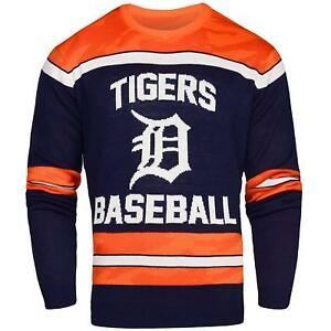 new product 94c4d 00dee Details about NWT MLB Detroit Tigers Men's Crew Neck Sweater - Glows in the  Dark! Medium
