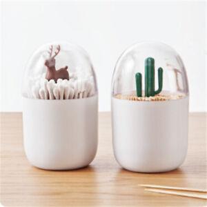 Toothpick-Holder-Container-Dispenser-Box-Cotton-Swab-Storage-Capsule-Organizer-H