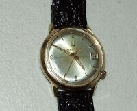 Vintage Working BULOVA Accutron 2181 Tuning Fork 10K RGP Men's Wrist Watch N3