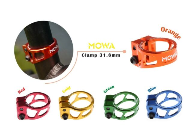 MOWA ASC Road Cyclocross Mountain MTB Bicycle Bike Seatpost Clamp 31.8mm Red