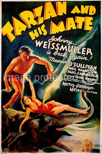 24x36 Tarzan and His Mate Vintage Movie Poster