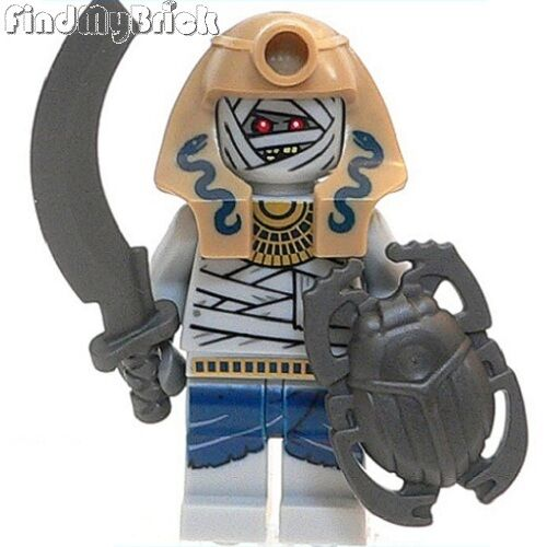 C905T Lego Pharaoh/'s Quest Mummy Warrior Minifigure with Sword /& Shield 7325 NEW