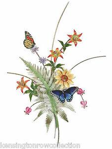 Image Is Loading WALL ART BUTTERFLIES IN A FLOWER GARDEN WALL