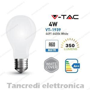 Lampadina-led-V-TAC-4W-E27-bianco-freddo-6400K-VT-1939-A60-bianca-filamento-VTAC