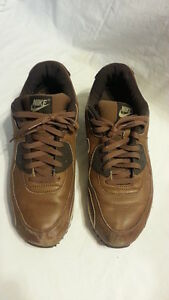 size 40 60e18 73d00 Details about Nike Air Max 90 Premium Leather Brown/Bison Baroque Men's  Size 12 313650-221
