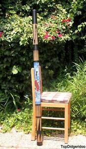 """59 """"\ 150cm Didgeridoo + Sac + D'abeille Embout Buccal,dot-peint Bambou AgréAble En ArrièRe-GoûT"""