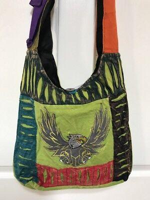 Hippie Cotton bag Nepali handmade Tie dye #1 Gift Nepal Hobo Bag Boho Purses