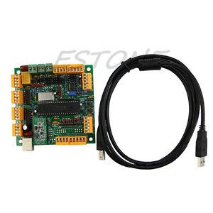 Usb 4 axis cnc controller interface board cncusb mk1 usbcnc 21 ebay image is loading usb 4 axis cnc controller interface board cncusb reheart Gallery