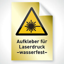 10x Outdoor Laser Kopierer Drucker Klebe Folie GOLD wasserfest A4 Profi Qualität